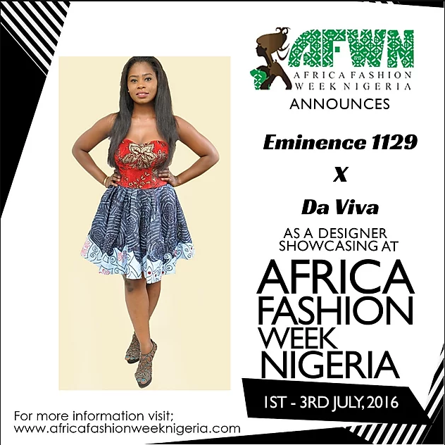 Meet EMINENCE 1129 At AFWN 2016 (proudly Sponsored By Da Viva) With His Collection Made With Da Viva Fabrics.