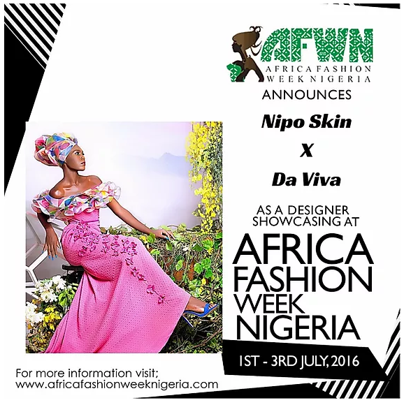 Meet NIPO SKIN At AFWN 2016 (proudly Sponsored By Da Viva) With His Amazing Collection Made With Da Viva Fabrics